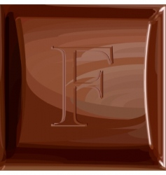 one letter of chocolate alphabet vector image vector image