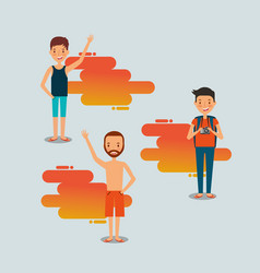 Summer people vacations vector