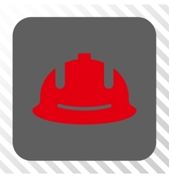 Construction Helmet Rounded Square Button vector image vector image