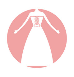 female wedding dress icon vector image vector image