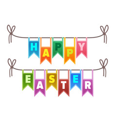 happy easter congratulation sign vector image vector image