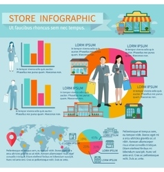 Stores infographic set vector image vector image
