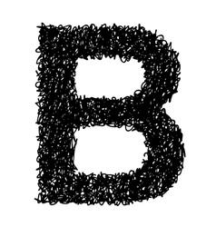 alphabet B vector image vector image