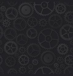 black clockwork seamless pattern vector image
