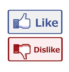 Like and dislike button vector image vector image
