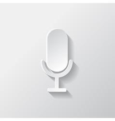 Microphone icon Sound recording vector image