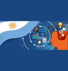 argentina it information technology digital vector image