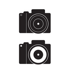 dslr camera icon flat sign vector image