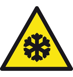 Freezing Temperatures Safety Sign vector image vector image