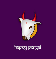 indian festival pongal background vector image vector image