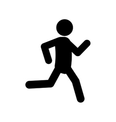 Man running pictogram vector image vector image