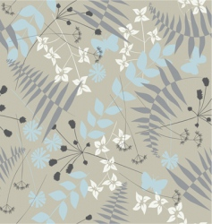 retro floral seamless background with butterflies vector image vector image