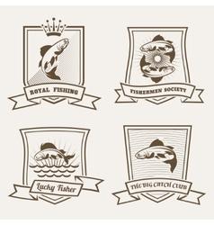 Salmon badges vector image