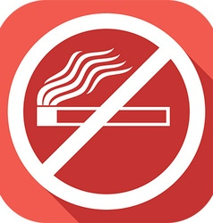 Stop Smoking Sign Icon vector image vector image