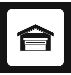 Warehouse building icon simple style vector image