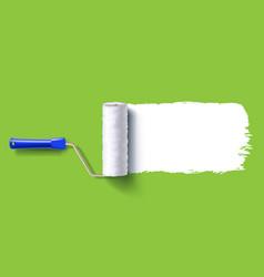 white roller brush vector image