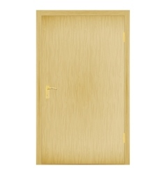 a closed wooden door vector image
