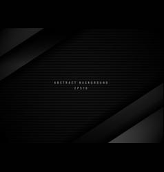 abstract 3d black metallic stripe geometric vector image