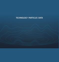 abstract futuristic big data dots particle vector image