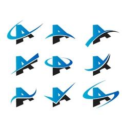 Alphabet a logo icons vector
