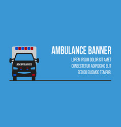 ambulance logos and banners vector image