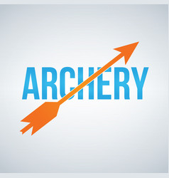 archery logo design template isolated on white vector image