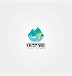 Beach logo template creative design vector