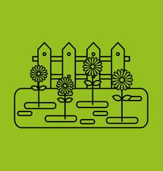 Beautiful garden flat icons vector