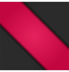 Black leather corners on pink vector