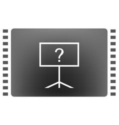 blackboard icon flat design vector image