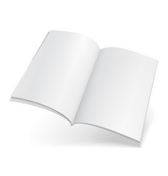 Blank flying magazine book booklet brochure vector
