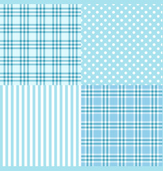 blue seamless patterns vector image