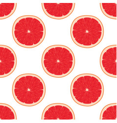 bright seamless pattern with grapefruits vector image