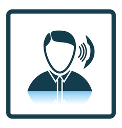 Businessman avatar making telephone call icon vector image