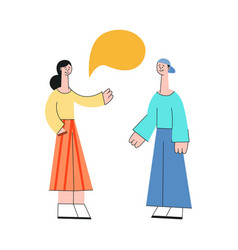 cartoon woman and man talking speech bubble vector image