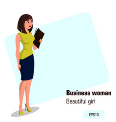character beautiful business woman 15 vector image