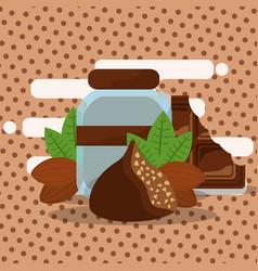 Chocolate cocoa card vector