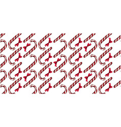 christmas pattern with candy canes vector image
