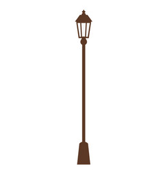 City street lantern on white background vector