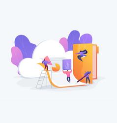 Cloud collaboration vector
