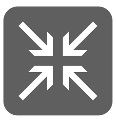 Collide arrows flat squared icon vector