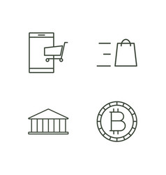 commerce outline icons set vector image