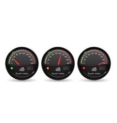 Decibel gauge volume unit black gauge vector