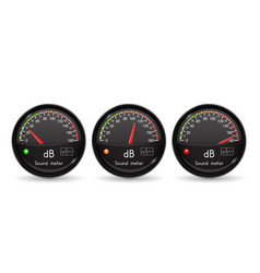 Decibel gauge volume unit black gauge with vector