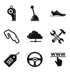 Deification icons set simple style vector