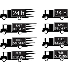Delivery trucks vector image