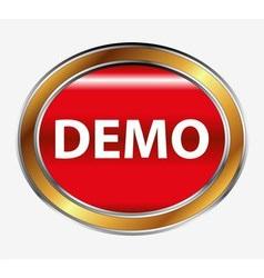 Demo button vector