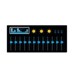 equalizer music sound dj icon graphic vector image