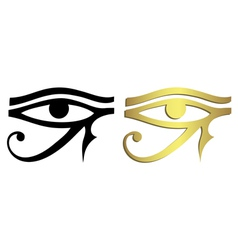 Eye horus in black and gold vector