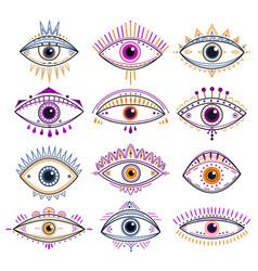 eye providence evil eyes mystic esoteric vector image